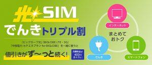 光SIMでんきトリプル割